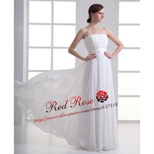 Cheap White Ivory Beach Wedding Dresses Wedding Gowns Sexy Backless Strapless Elegant Bridal Dresses Robe de Mariage