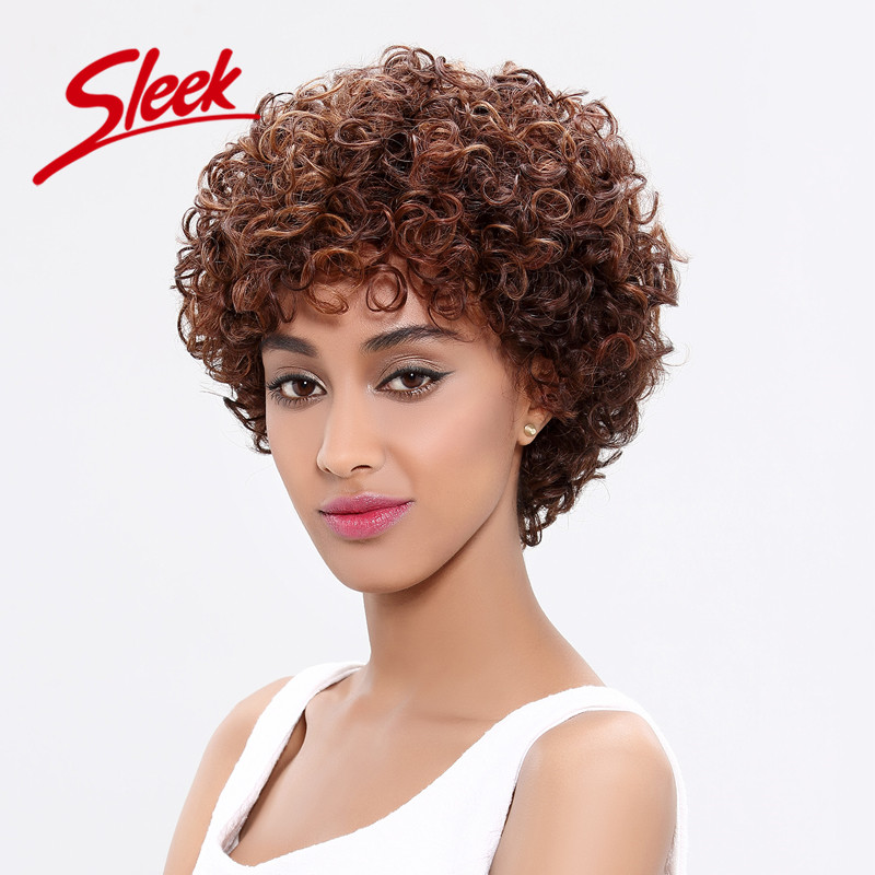 Sleek Deep Curly Human Hair Wigs for Black Women, 100% Brazilian Curly Virgin Hair, 11 Human Hair Wigs, Perruque Cheveux Humain<br><br>Aliexpress