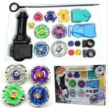 NEW Top Fusion Metal Master Fight Rapidity Rare 4D Beyblade Launcher Set Kid Toy