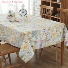 Free Shipping Map Patchwork Square Tablecloths Cotton Linen Tablecloth Rectangular Table Cloth Solid Table cover Manteles
