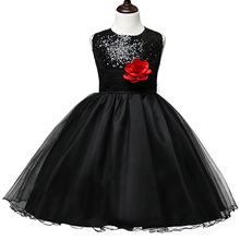 Summer 2017 Sparkle Sequin Teenage Girl Evening Party Gown Dress For First Communion Formal Baby Kids Clothing Children Costume