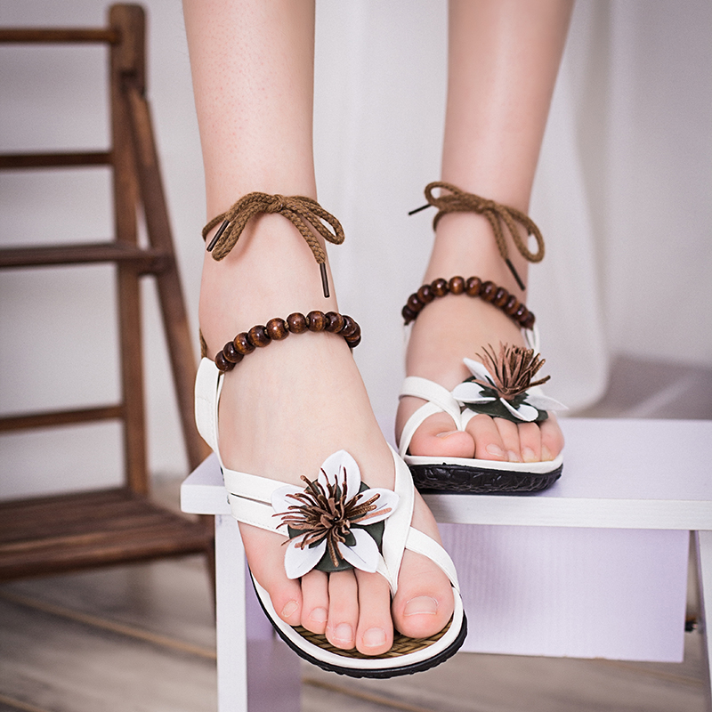 JT952 2017 New Arrival Sexy Ankle strap Sandals Womans fashion Wedges Bohemia Heel heel sandles<br><br>Aliexpress