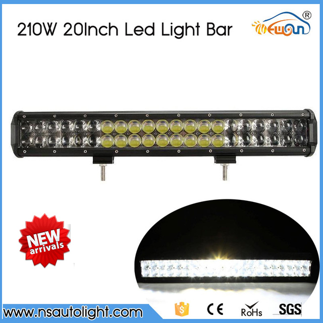 High power 210W 20 Inch 4D Straight LED Light Bar ATV SUV Car Led Light Offroad  RZR Work Lights bar Driving Lamp Combo Beam<br><br>Aliexpress