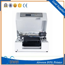 OEM 6 color textile digital printer ditect to garment printing machine support white ink(China)