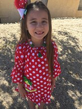 girls Christmas dress kids Christmas tree dress girls Fall dress girls red with white polka dot dress with necklace and headband