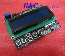 1PCS 1602 LCD Board Keypad Shield Blue Backlight