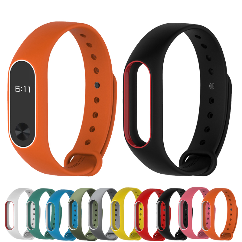 for Mi band 2 Strap Colorful Silicone Wrist Strap Smartband Bracelet Dual Color Replacement watchband for Xiaomi Miband 2<br><br>Aliexpress