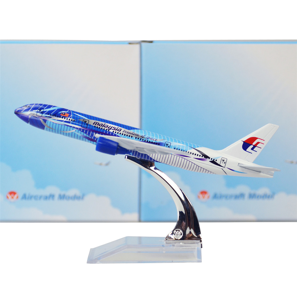 Malaysia Airlines Seawave Boeing 777 16cm Model Airplane Men's Birthday Gift Plane Models Toys Christmas(China)