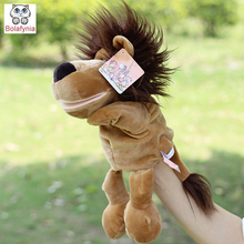 Infant Children Hand Puppet Big Brown Lions Mouth kids baby plush Stuffed Toy Puppets toys Christmas birthday gift