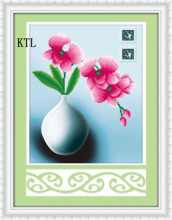 5D diamond painting magic cube round drill elegant Phalaenopsis FLOWER FLOWER vertical cross stitch embroidery(China)