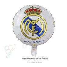New 10pcs/lot Madrid Foil Balloons Happy Birthday Party Decorations Madrid Football Aluminum Balloon Toys For Kids Globos