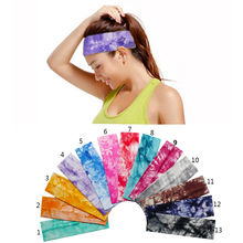 2 inch Tie Dye Cheetah Forest Tree Chevron Zebra Cotton Stretch Headbands Sports Girl Hair Bands Bandage Gum Turban Bandana