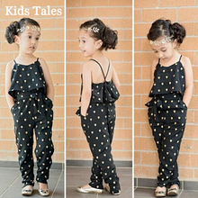 PR-020 New Arrival Fashion Kids Summer Girls Heart Pattern Jumpsuit Toddlers Pants With Belt Dresses