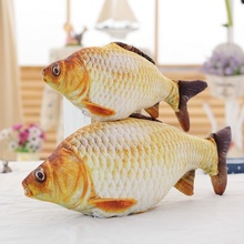20/40/60cm Kawaii Crucian Fish Pillow Stuffed Plush Animal Little Fish Toy Cartoon Dolls Kids Toys Valentines Party Gifts(China)