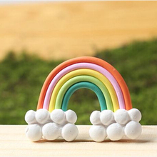Flatback DIY Clay Rainbow Cabochons Flat Back Scrapbooking Hair Bow Embellishment Resin Crafts