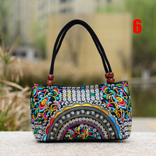 China Trend Women Handmade Faced Flower Embroidered Canvas Embroidery Ethnic Bags National Handbag BS88(China)