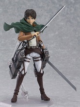 Action Figure Attack on titan Eren Jaeger Levi Mikasa 15cm PVC Brinquedo Shingeki No Kyojin juguetes toy Model Anime kids toy(China)