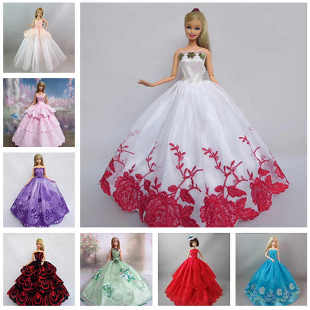 1Pc Fashion Handmade Clothes Dresses Grows Outfit for doll Dress for Girls  Many Colors High Quality 09047f6ae899