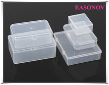 free shipping!!rectangular transparent plastic storage box jewelry box storage box cassette cover 5pcs / lot