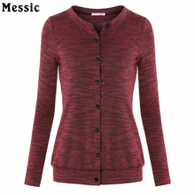Buy Women's Casual Slim Fit Button Classic Knit Tops Soft Long Sleeve Knit Sweatshirt Button Clothes Women Plus Size for $10.99 in AliExpress store