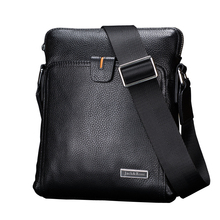 Casual genuine leather men bags business fashion men messenger bag brand designer men's shoulder bag(China)