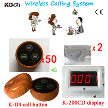 Call Button Waiter Paging System CE 433mhz English Prompt Screen