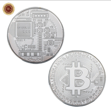 Buy WR 1 oz 999 Silver Bitcoin Challenge Coin Commemorative Metal Bitcoin Silver Coin Collective Birthday Gifts for $2.85 in AliExpress store