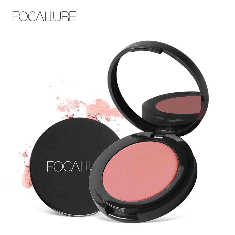 FOCALLURE New Fabulous Genuine 11 colors blush Soymilk matte pearl rouge Blush High Quality Make Up Face Blusher(China)