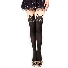 Buy New Fashion Women Nylon Cute Cat Totoro Knee High Tights Sexy Styles Tattoo Stockings Girls Sexy Pantyhose Knee Stockings