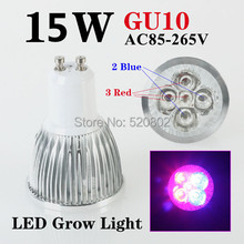 Free shipping 5X3W 15W GU10 3Red 2Blue LED Grow Light For Flowering Plant and Hydroponics System Best Price 3 Years Warranty(China)