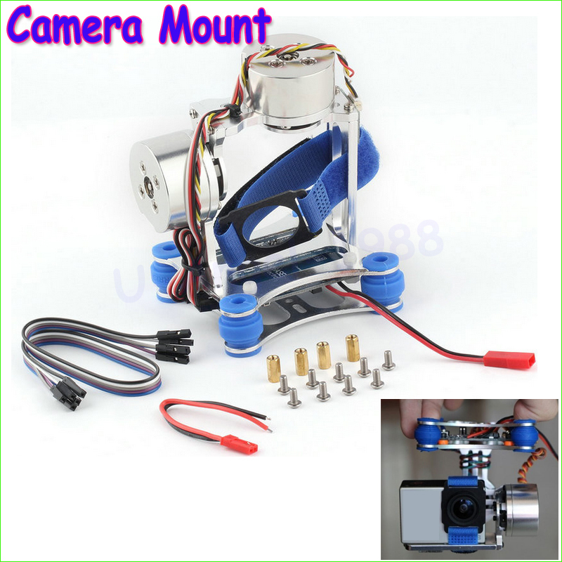 1pcs Camera Mount CNC Brushless Gimbal PTZ Motors Controller for GoPro Cameras for  Phantom Wholesale Dropship<br>