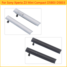 White Black For Sony Xperia Z3 MINI Compact D5803 D5833 USB Cover Micro SIM SD Slot Port Dust Plug Cover Free Shipping