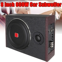 8Inch 600W Active Seat Car Subwoofer Speaker Car Audio Speaker Stereo Power Amplifier Subwoofer Enclosed Subwoofer System