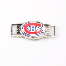 Montreal Canadiens NHL Hockey Team Logo Oval Shoelace Charms For Sport Shoes And Paracord Bracelets Jewelry Decoration 6pcs