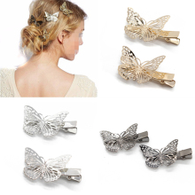 4 PCS Fashion Hair Accessories Hairwear Hair Grips Metal Gold Color Butterfly Hair Clip Hairpins Barrette Jewelry For Women Girl