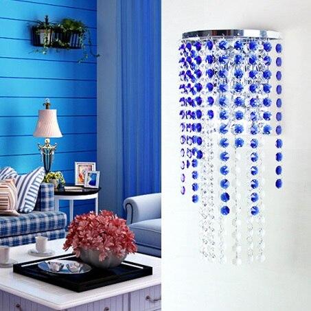 Modern Indoor Crystal Wall Fixtures Bedroom BedSide Lamp Sconce Lights LED blue wall lights<br><br>Aliexpress