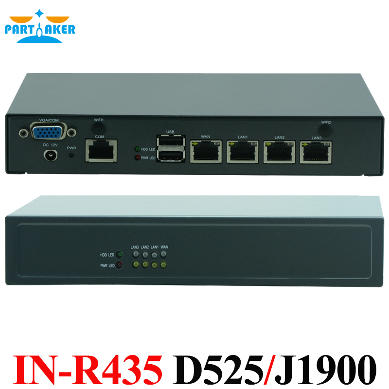 Intel Atom D525 Quad Core J1900 Firewall Router Mini Computer 4 LAN Mini Router Server with Intel 82583V Chipset(China)