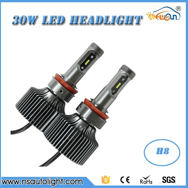 Best Price!!! 2x H8   LED 30W*2 60w  4200lm White Car DRL Daytime Running Driving Fog Headlight Xenon White Ultra Bright<br><br>Aliexpress