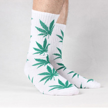 High Quality Cotton Fashion Harajuku Street Style Rock And Roll Summer Spring Winter Autumn Casual Long Weed Socks Men(China)
