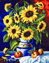 DIY 40cmX50cm Oil Digital Painting For Gift Digital Oil Painting Frameless painting by numbers Sunflower coloring by numbers 295