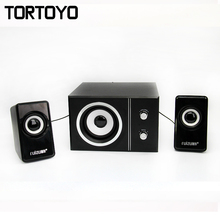 1 Set Multi Function Media Music Player 3D Surround Subwoofer Stereo PC USB Speaker Loudspeaker Voice Box for Computer Laptop