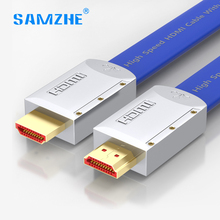 SAMZHE luxury HDMI Cable Gold plated Male to Male 4K 18Gbps high Speed Video Cable for HD TV PS3 PS4 xbox laptop Computer(China)