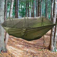 1 Set Outdoor Camping Double Hammock Tree 2 Person Patio Bed Swing with Mosquito Net 260*140cm(China)