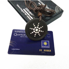 Black Lava Quantum Energy Pendant with 3000CC Negative Ions High Quality Charms with Retail Package Box 10pcs/lot