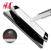 Buy H&A 4D Curved Tempered Glass iPhone 6 6s 7 Screen Protector Film iphone 7 7 plus Glass protective Full Screen Cover for $3.44 in AliExpress store