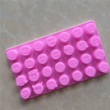 28 even expression silica gel chocolate mold silicone ice silicone DIY baking Aroma jelly mold