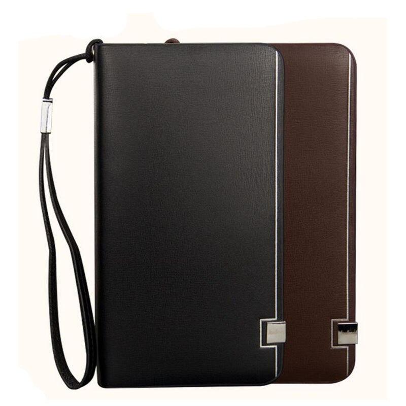 Hot Selling! Fashion Men Wallet Card Holder Purse Brand Senior Leather Long Mens Clutch Bag Coin Purse Black Brown Wallets 2017<br><br>Aliexpress