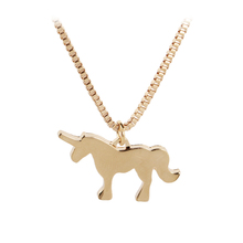 My little pony Necklaces unicorn Animal horse Necklace anime gold Silver Plated Jewelry mother's day Gift For mom children girls
