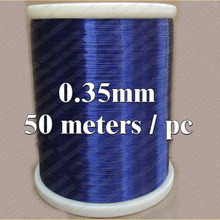 50m QA-1-130 2UEW Blue Magnet Wire 0.35 mm Enameled Copper wire Magnetic Coil Winding