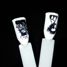 New 100*4cm Nail Art Stickers Decals Wraps Halloween Skull Design Nail Transfer Foil Manicure Tools Wholesale Retail(China)
